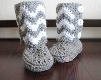 Chevron Toddler Boots