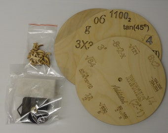Make Your Own Clock - Plain / Maths / Science Style - Arts and Crafts Decoupage Gifts