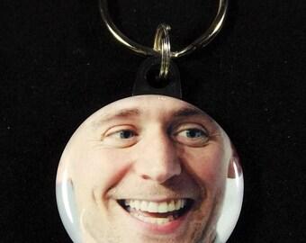 "Tom Hiddleston 1.25"" Button Keychain Key Ring #2"