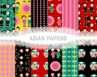 Asian Papers, Asia Papers, digital Paper, Instant Download, Printable paper