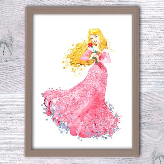 Aurora Watercolor Print Disney Aurora Poster Princess Aurora