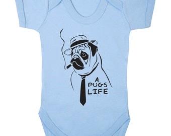 It's A Pugs Life Baby onesie,babygrow