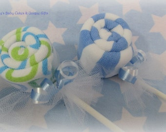 Baby Washcloth Lollipop, Baby Washcloth, Baby Shower Decoration, Baby Boy Gift