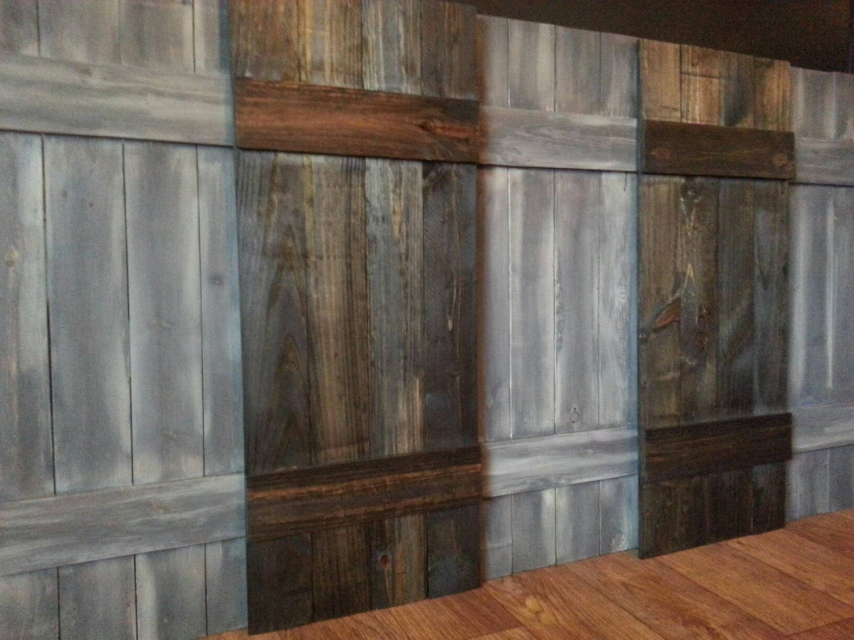 Rustic wood shutters primitive shutters decorative - Decorative interior wall shutters ...