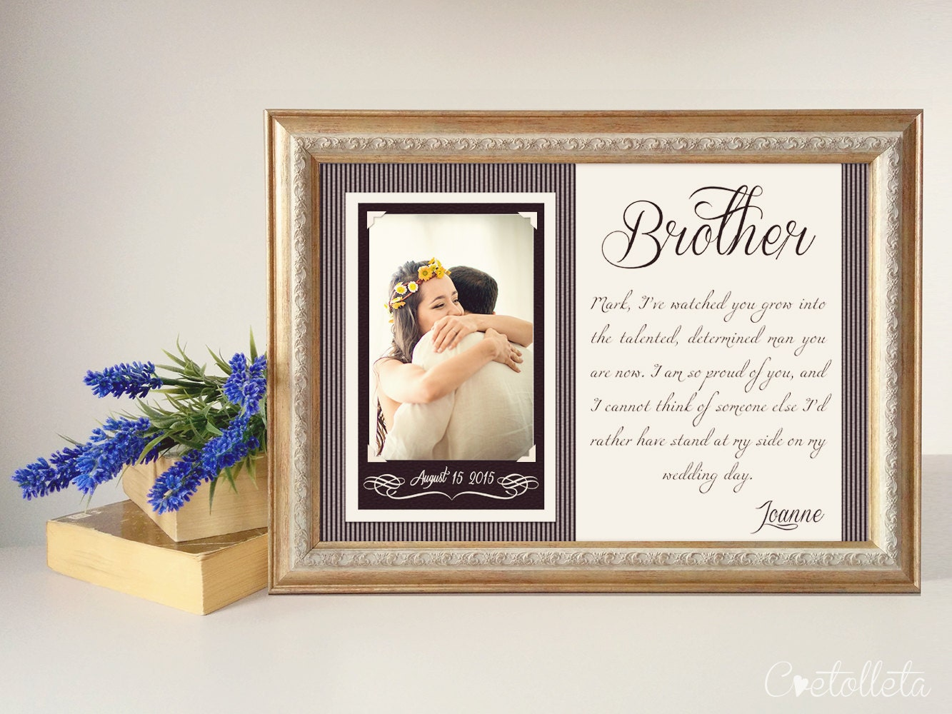 Wedding Gifts For Bride From Best Friend: Brother Wedding Gift Best Friend Thank You Gift By Cvetolleta