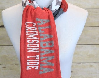 University of Alabama Crimson Tide Scarf, Roll Tide, Game Day, Accessories