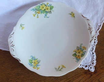 Vintage Cake Plate Bell Bone China ~ Mismatched China Wedding High Tea ~ Made in England