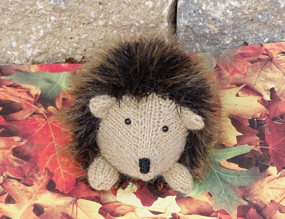 Stuffed Hedgehog Knitting Pattern : Hedgehog Stuffed Toy Plush Hedgehog Knitted Toy Ready to