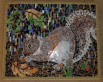 Mosaic Squirrel Wall Hanging