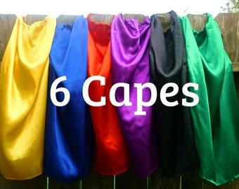 Childen's Super Hero Capes 6 Party Favors Bulk Wholesale