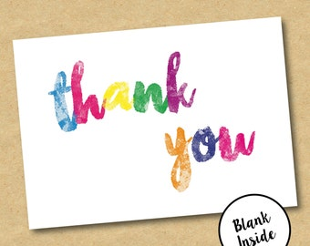 Rainbow Thank You Cards - Pack of 10