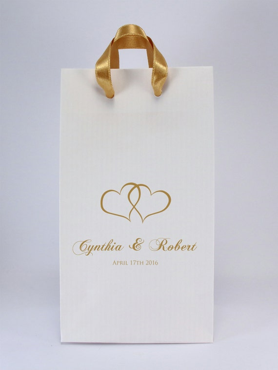 Wedding Favor Bags with Handles - Pk of 100 - Personalized Favor Bags ...