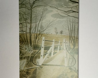 Vintage Eric Ravilious Art Print Beautifully Matted & Mounted - Choice of prints