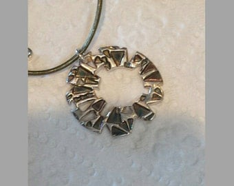 Looking Out the Stained Glass Window - Silver Necklace