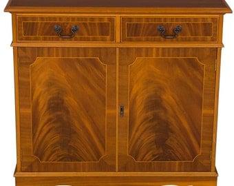 Mahogany Narrow Side Cabinet Cupboard