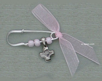 Greek baptism favors martyrika witness pins baptism girl martirika baptism cross greek martyrika baby christening safety pins for guests