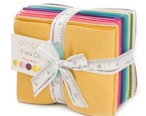 FAT QUARTER BUNDLE | V and Co | Ombre | Solid Fabrics | Moda Fabrics