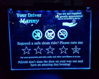 CAR -Taxi - Illuminated Sign