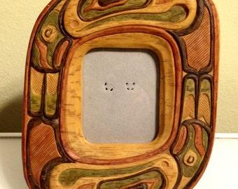 Northwest Coast Native American Design Picture Frame