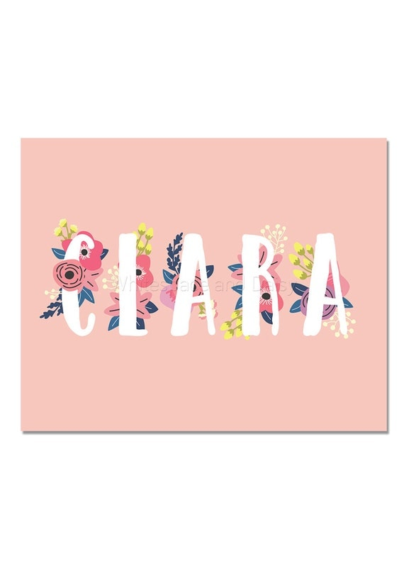 Clara personalized name sign personalized baby gift nursery clara personalized name sign personalized baby gift nursery wall art baby shower decor personalized name baby gift custom name art negle Gallery