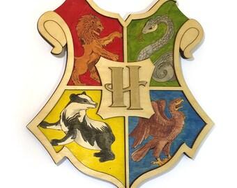 Harry Potter Hogwarts Crest wooden wall art