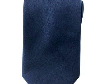Mens Necktie Navy Blue Necktie 8.5cm Party Tie.Casual Tie.Handmade Tie. Plain Navy Blue tie. Blue tie.Formal Tie. Business Tie.