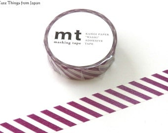 NEW Purple Stripes mt Washi Tape, Masking Tape, Japanese Tape [MT01D241]