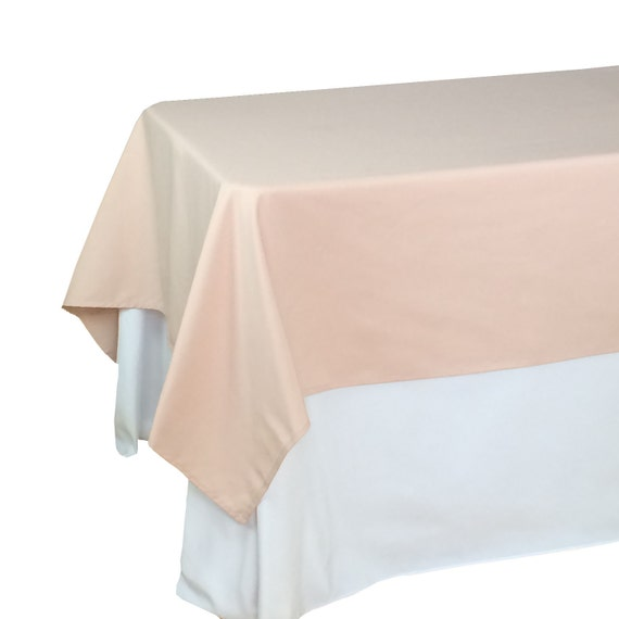 Blush tablecloths 60 x 102 inches rectangle rectangular blush for 102 table runners