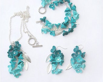 Teal jewelry set