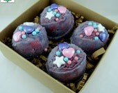 Unicorn Poop Bath Bomb Bath Truffles - Pack of 4 - Glitter Bath Bomb, Bubble Bath, Bath Melt, All in one! Bath Gift Set