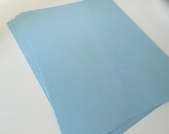 Light Blue Card Stock 8.5 x 11 Premium Paper Smooth Acid Free 90 lb / 163 g/m2 for scrapbooking paper supply diy multipack supplies