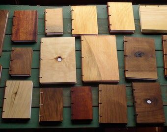 10 Wooden Journals - Variety Pack - All types of woods and sizes