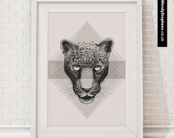 Eternal Leopard // Illustrated Giclee Art Print // Wendy Stephens