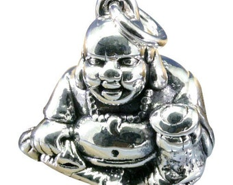 Buddha, pendant, 925 sterling silver, electroforming - 3123