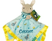 PERSONALIZED Goodnight Moon  Lovey Security Blanket CUSTOM NAME