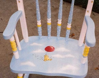 Winnie the Pooh rocking chair, kids furniture