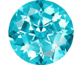 Swarovski Gemstones Loose Paraiba Blue Natural Topaz Gemstone, Round Brilliant Shape, AAA Flawless, Jewelry Making
