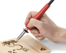 Wood Burning Pen, 20 Tips and Stencil, WoodBurning Set, Pyrography Tool, Leather Craft Drawing Woodburner Detailer Kit