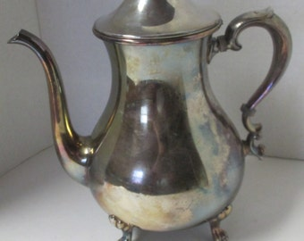 Vintage Silver Plate Pitcher with Lid