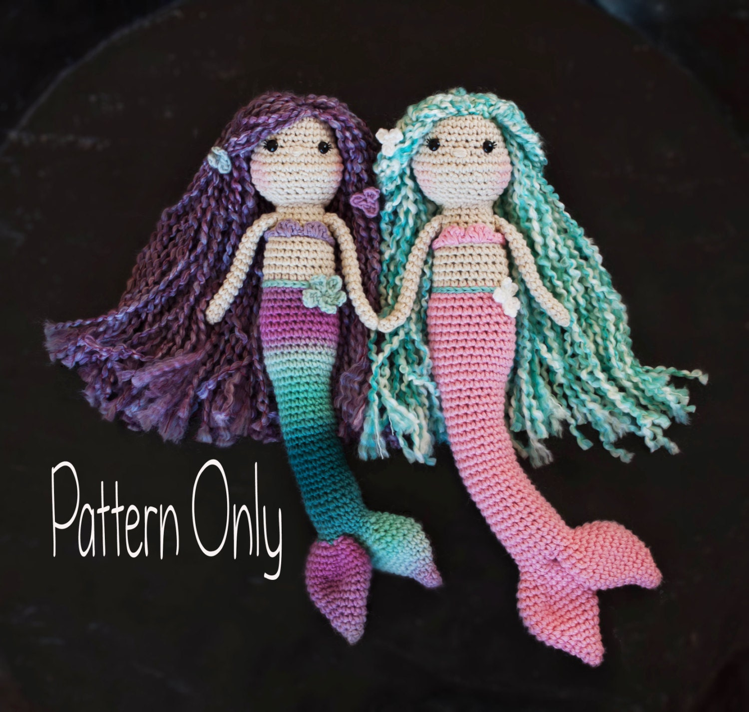 Mini Owl Amigurumi Pattern : Crocheted Mermaid Doll Pattern Amigurumi Mermaid Doll