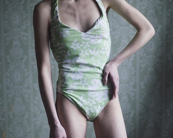 SALE! Green Floral Swimsuit