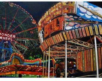 "Limited Edition ""Nightwheel"" Print / Digital Print on Enhanced Matte"