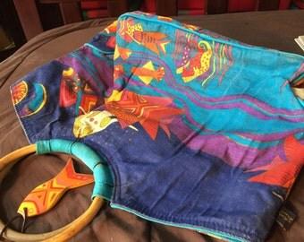 Beautiful Vintage Laurel Burch Tote Bag Purse