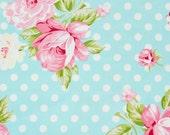 Floral Fabric, Rosie, Polka Dot Roses, Tanya Whelan, Free Spirit, Blue, Pink, Gingham, Vintage, Roses, Handmade, Cotton, Clothing, Sew