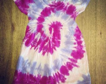 SALE - Tie Dye Baby Dress - Little Girls Dress - Handmade - Michigan made - Sizes: 0-3 months-4T - Hippie