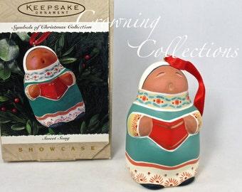 1995 Hallmark Sweet Song Keepsake Ornament Southwest Terra cotta Folk Art Symbol of Christmas Collection Americana Vintage MIB