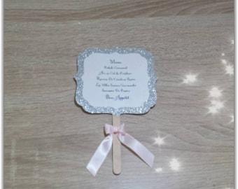 Wedding Menu / baptism princess theme
