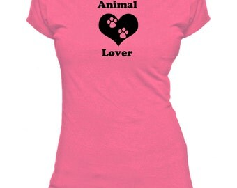 Animal Lover. Pets. Ladies fitted t-shirt.