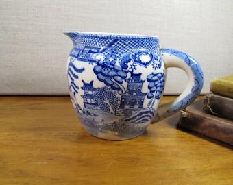 Blue Willow Ceramic Creamer