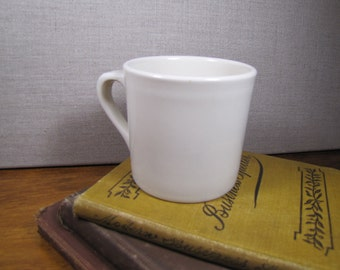 Vintage Coffee Mug - Creamy White - Restaurant Ware - Made in USA